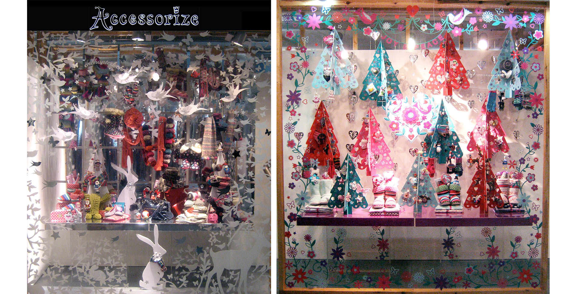 Accessorize Christmas windows
