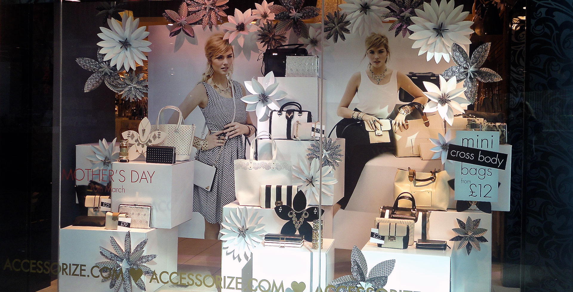 Accessorize Kate Upton window