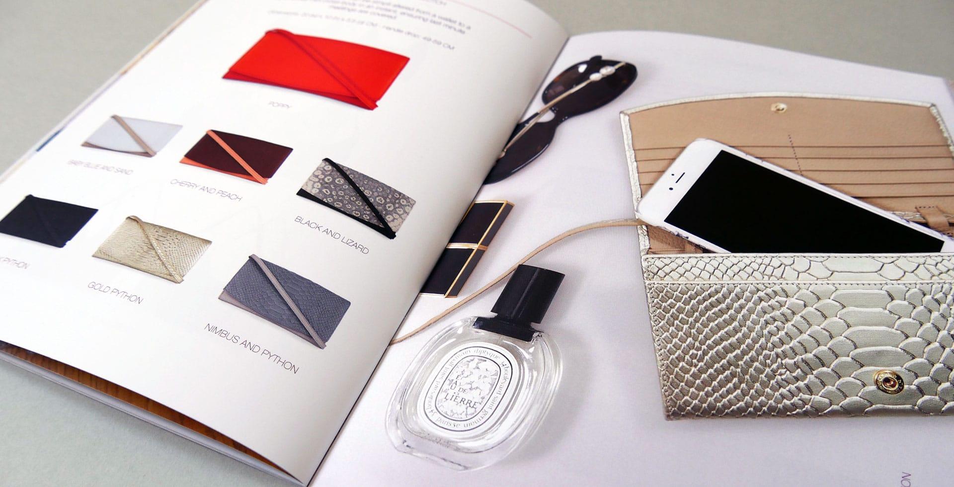 Esin Akan Lookbook page layouts