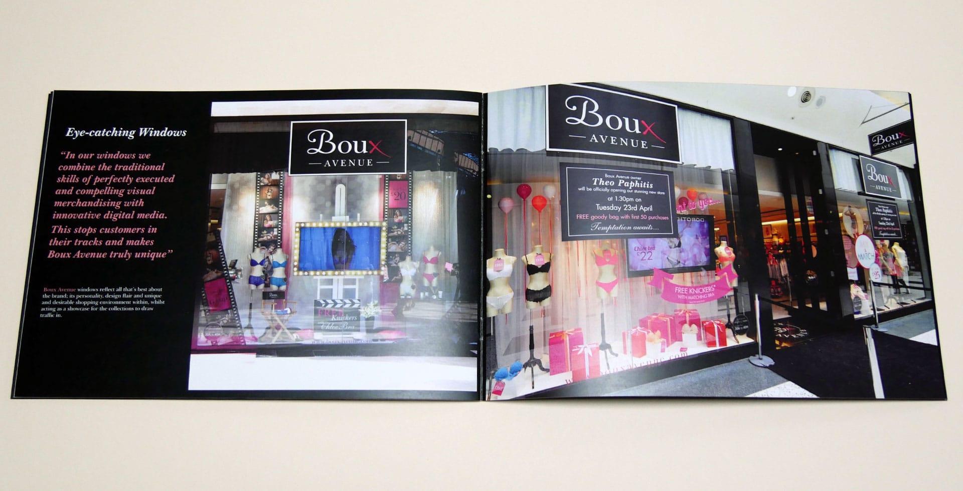 International brochure for Boux Avenue
