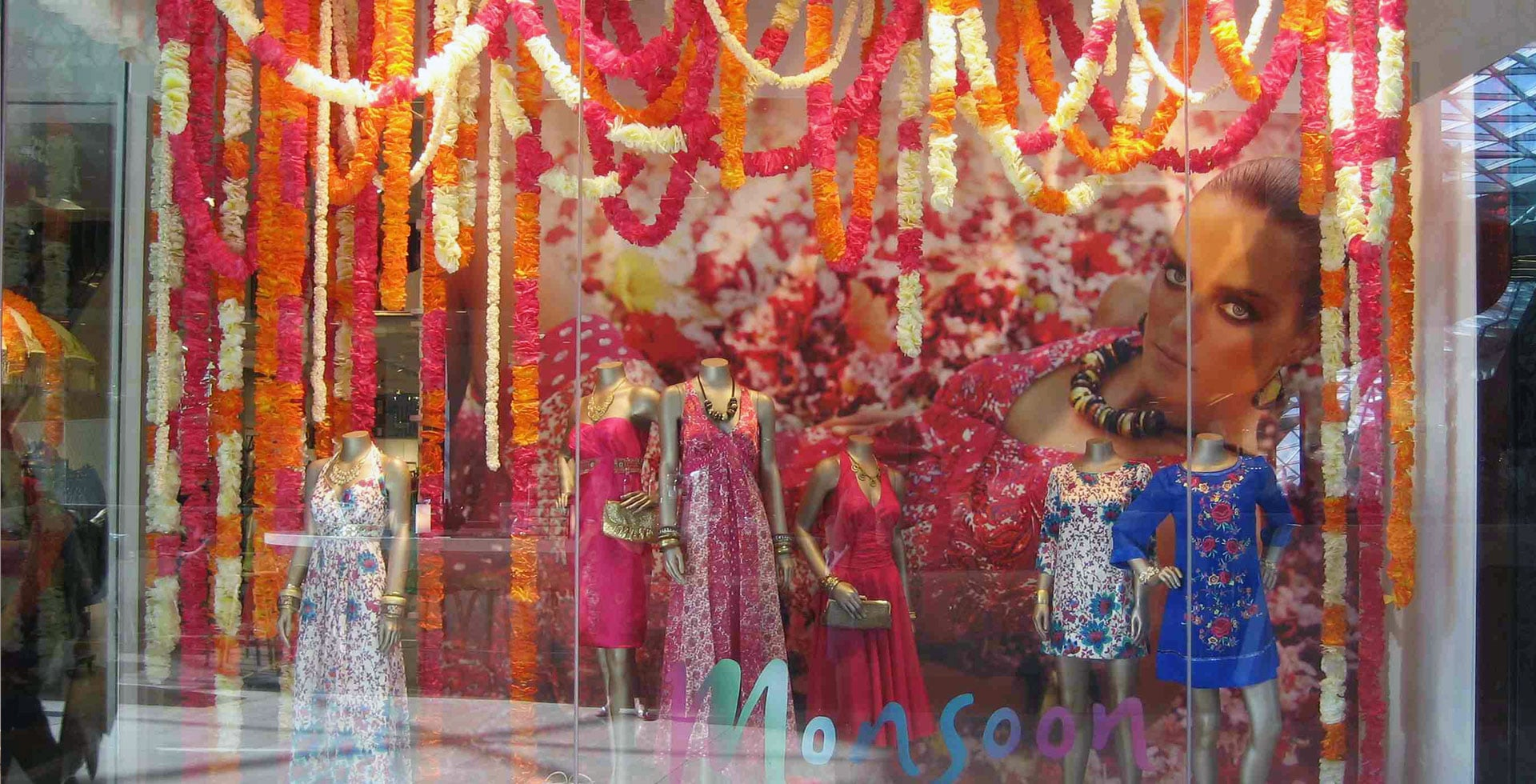 Monsoon garland window