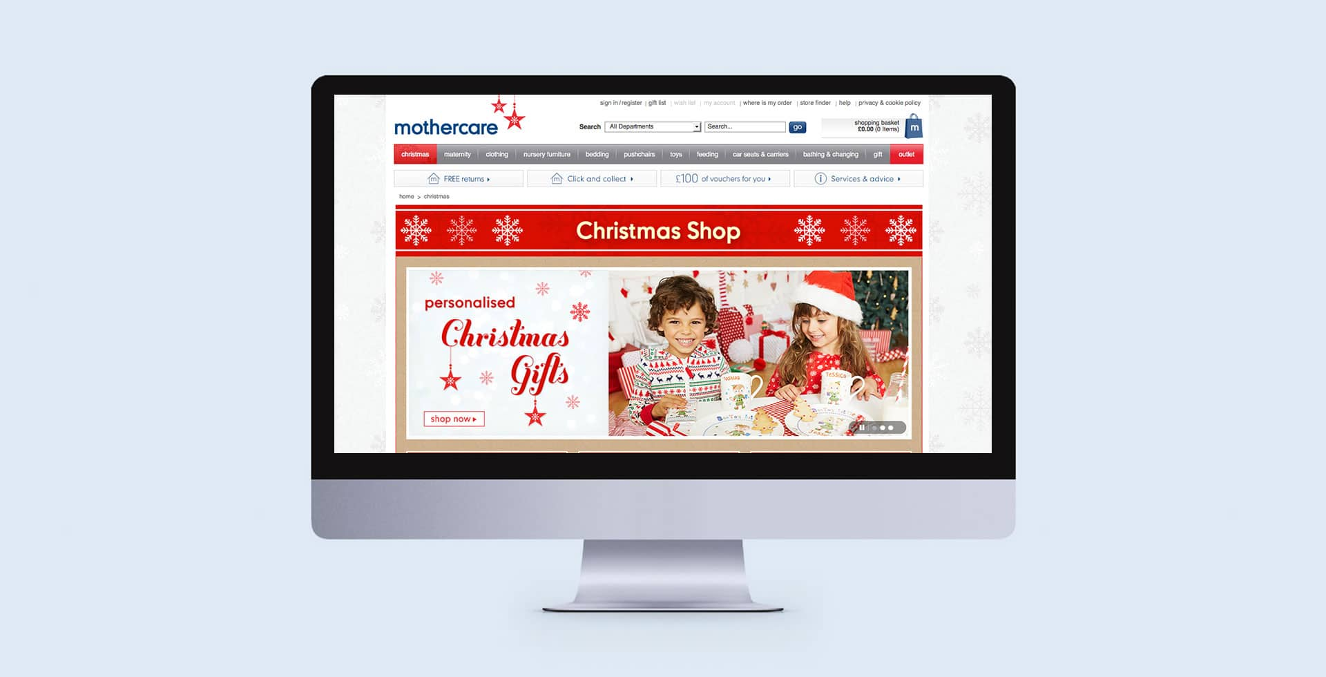 Mothercare Christmas Web Creative