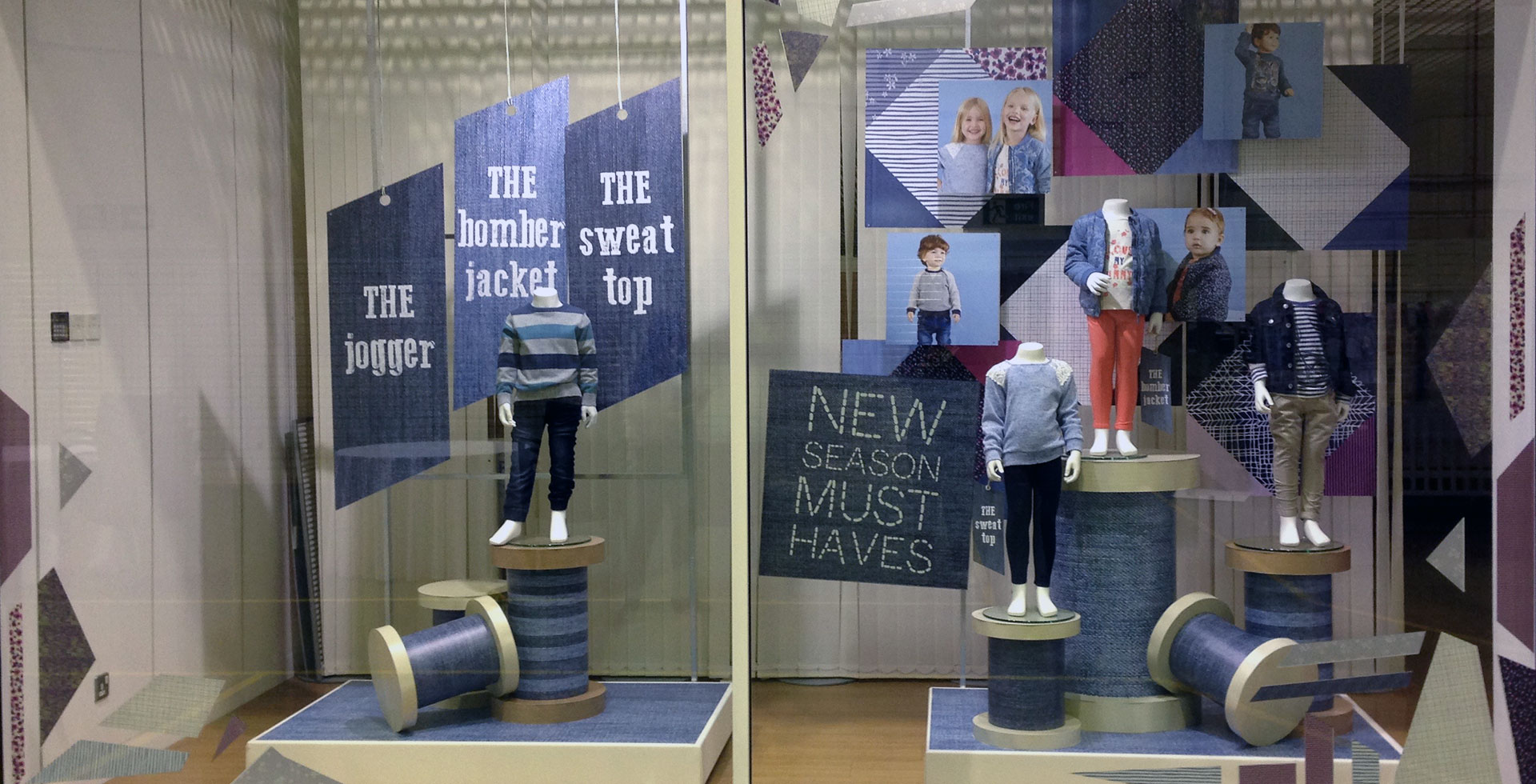Mothercare denim window