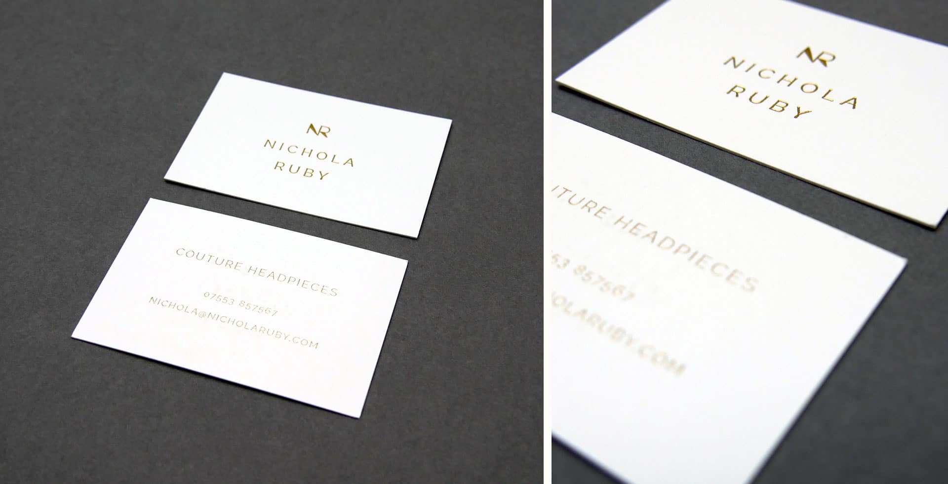 Luxury gold business cards