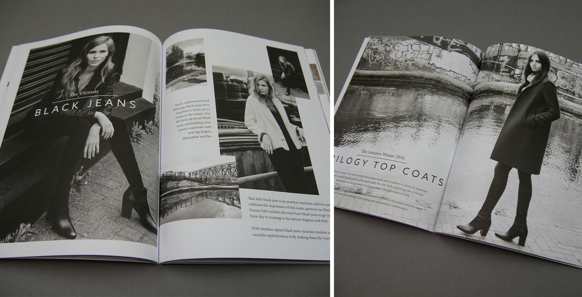 Trilogy Style Guide Black and White Layouts