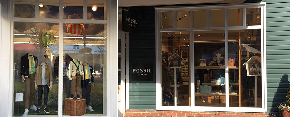 Bicester Windows Fossil and Ralph Lauren Kids