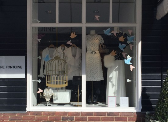 Bicester Village Brides Event and Window Displays