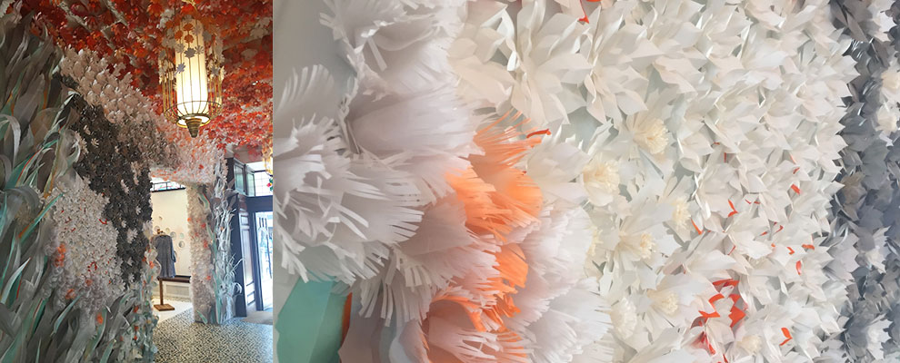 Anthropologie Paper flowers