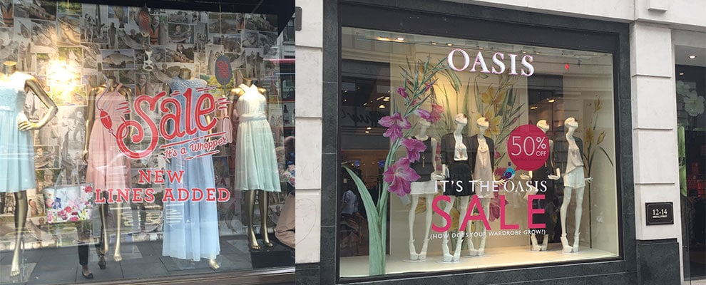 Ted Baker and Oasis